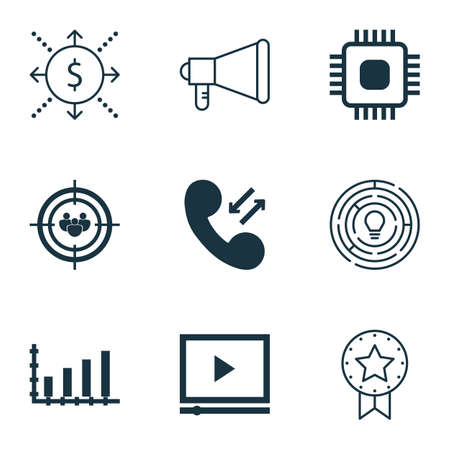 roaming: Set Of 9 Universal Editable Icons. Can Be Used For Web, Mobile And App Design. Includes Icons Such As Dynamics, Money, Present Badge And More.