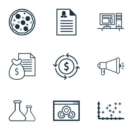 medical evaluation: Set Of 9 Universal Editable Icons. Can Be Used For Web, Mobile And App Design. Includes Icons Such As Computer, Plot Diagram, Website Performance And More. Illustration