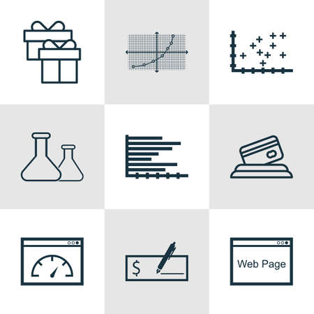 debt collection: Set Of 9 Universal Editable Icons. Can Be Used For Web, Mobile And App Design. Includes Icons Such As Plot Diagram, Website, Bars Chart And More. Illustration