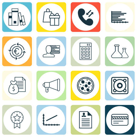 roaming: Set Of 16 Universal Editable Icons. Can Be Used For Web, Mobile And App Design. Includes Icons Such As Personal Skills, Shopping, Library And More. Illustration