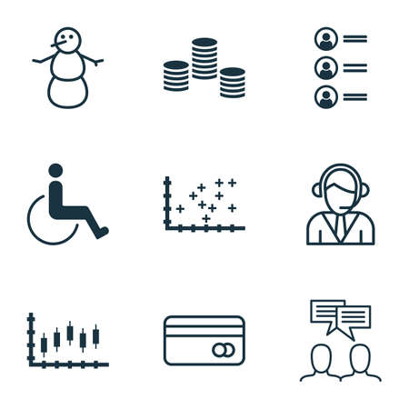 accessibility: Set Of 9 Universal Editable Icons. Can Be Used For Web, Mobile And App Design. Includes Icons Such As Accessibility, Job Applicants, Plot Diagram And More.