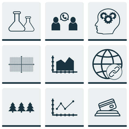 thinking link: Set Of 9 Universal Editable Icons. Can Be Used For Web, Mobile And App Design. Includes Icons Such As Holiday Ornament, Phone Conference, Connectivity And More. Illustration