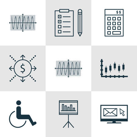 accessibility: Set Of 9 Universal Editable Icons. Can Be Used For Web, Mobile And App Design. Includes Icons Such As Reminder, Accessibility, Money And More.