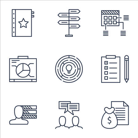 project charter: Set Of Project Management Icons On Schedule, Opportunity And Report Topics. Editable Vector Illustration. Includes Money, Dashboard And Report Vector Icons.