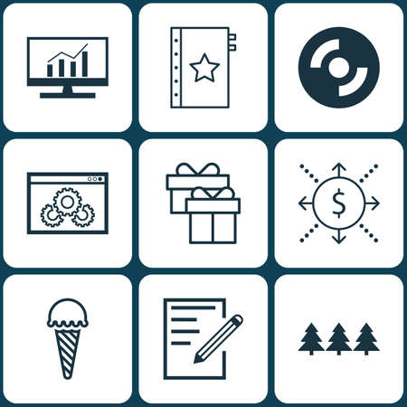 frozen food: Set Of 9 Universal Editable Icons. Can Be Used For Web, Mobile And App Design. Includes Icons Such As Frozen Food, Present, Blank Cd And More.