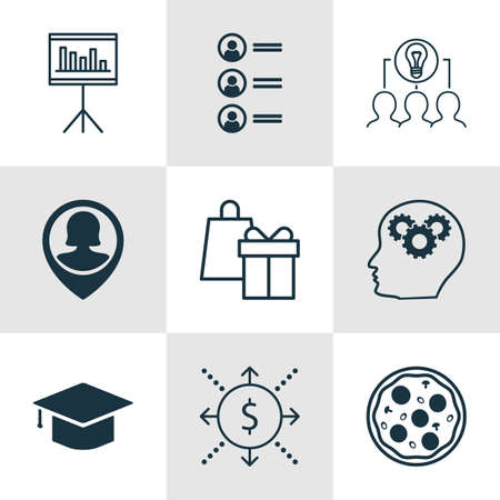 the applicant: Set Of 9 Universal Editable Icons. Can Be Used For Web, Mobile And App Design. Includes Icons Such As Job Applicants, Shopping, Graduation And More.