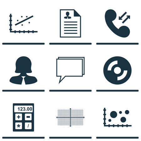 Set Of 9 Universal Editable Icons. Can Be Used For Web, Mobile And App Design. Includes Icons Such As Blank Cd, Business Woman, Curriculum Vitae And More.
