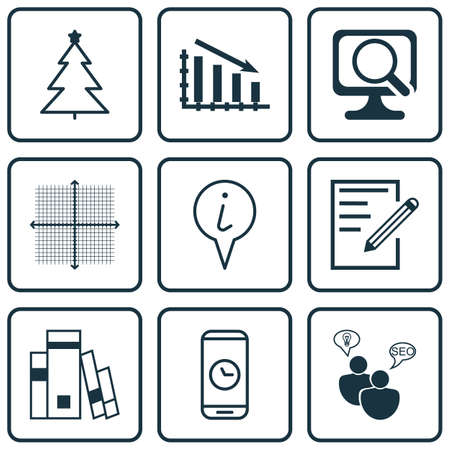 grid paper: Set Of 9 Universal Editable Icons. Can Be Used For Web, Mobile And App Design. Includes Icons Such As Info Pointer, Graphical Grid, Paper And More.