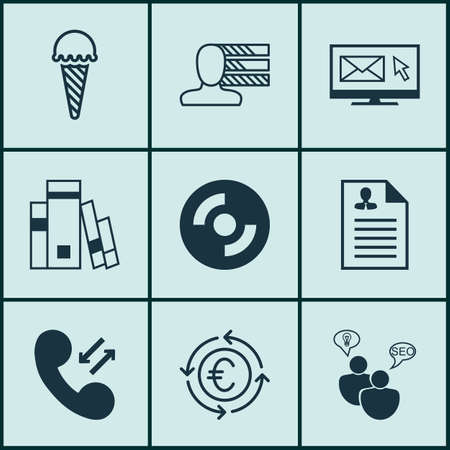 Set Of 9 Universal Editable Icons. Can Be Used For Web, Mobile And App Design. Includes Icons Such As Personal Skills, SEO Brainstorm, Frozen Food And More.