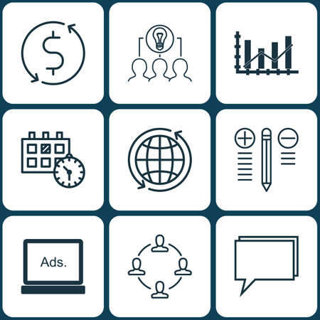 collaborative: Set Of 9 Universal Editable Icons. Can Be Used For Web, Mobile And App Design. Includes Icons Such As Appointment, Collaborative Solution, Raise Diagram And More.