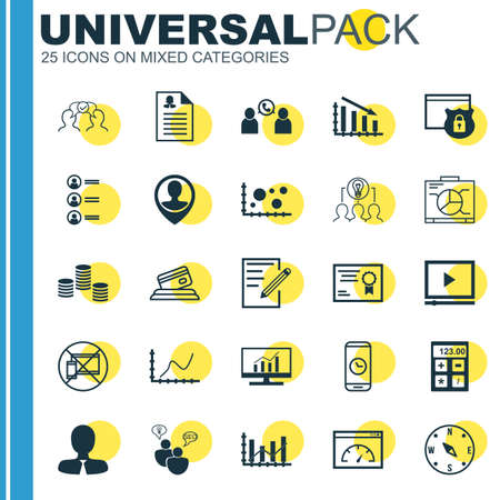 list of successful candidates: Set Of 25 Universal Editable Icons. Can Be Used For Web, Mobile And App Design. Includes Icons Such As Achievement Graph, Cooperation, Female Application And More.