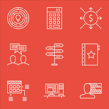 project charter: Set Of Project Management Icons On Innovation, Warranty And Discussion Topics. Editable Vector Illustration. Includes Cash, Budget And Warranty Vector Icons.