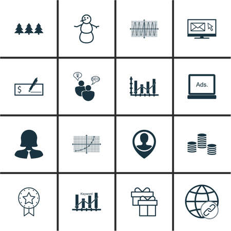 keywords adult: Set Of 16 Universal Editable Icons. Can Be Used For Web, Mobile And App Design. Includes Icons Such As Employee Location, Digital Media, Money And More.