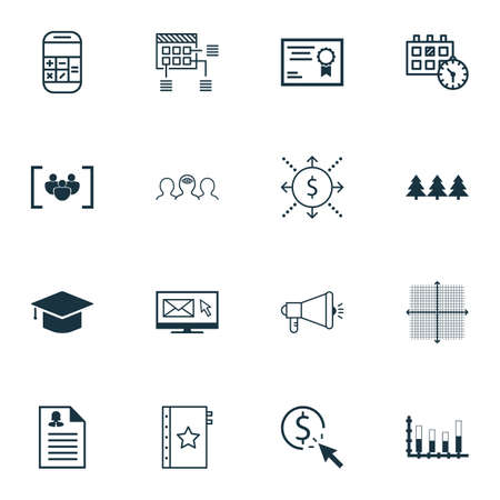 segmented: Set Of 16 Universal Editable Icons. Can Be Used For Web, Mobile And App Design. Includes Icons Such As Questionnaire, Holiday Ornament, Segmented Bar Graph And More.