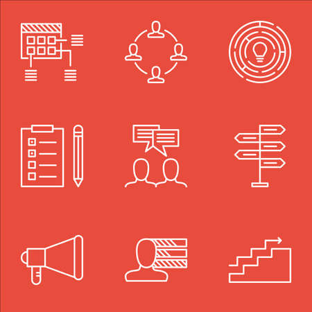 project charter: Set Of Project Management Icons On Opportunity, Schedule And Personal Skills Topics. Editable Vector Illustration. Includes Personal, Task And Project Vector Icons.