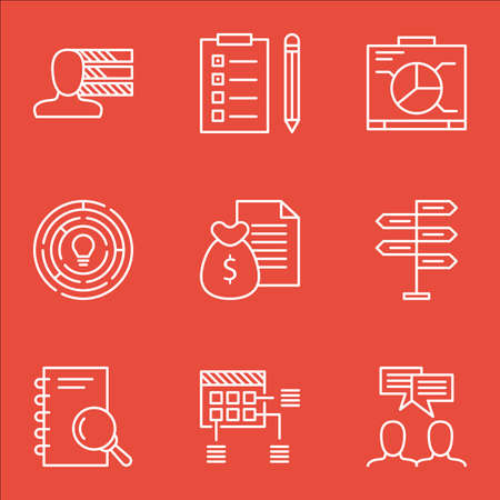 ability to speak: Set Of Project Management Icons On Discussion, Board And Report Topics. Editable Vector Illustration. Includes Brainstorm, Decision And Dashboard Vector Icons.