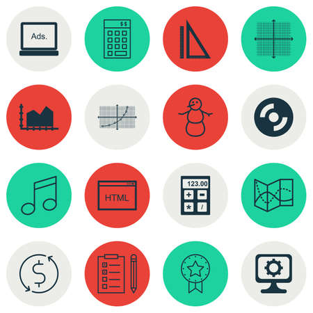 graphical chart: Set Of 16 Universal Editable Icons. Can Be Used For Web, Mobile And App Design. Includes Icons Such As Digital Media, Line Up, Road Map And More.