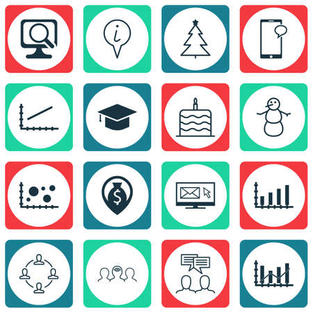 line up: Set Of 16 Universal Editable Icons. Can Be Used For Web, Mobile And App Design. Includes Icons Such As Line Up, Dynamics, Money Navigation And More. Illustration