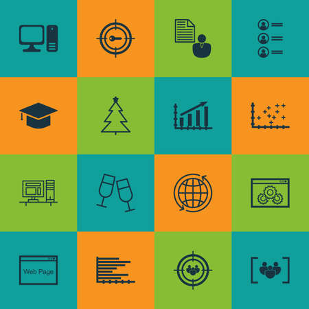 Set of 25 universal icons on plot diagram innovation present can be used for web mobile and app ccuart Image collections