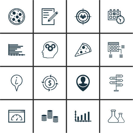 balanza de laboratorio: Set Of 16 Universal Editable Icons. Can Be Used For Web, Mobile And App Design. Includes Icons Such As Focus Group, Money, Paper And More.