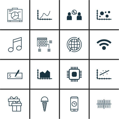 crotchets: Set Of 16 Universal Editable Icons. Can Be Used For Web, Mobile And App Design. Includes Icons Such As Crotchets, Call Duration, Comparison And More.