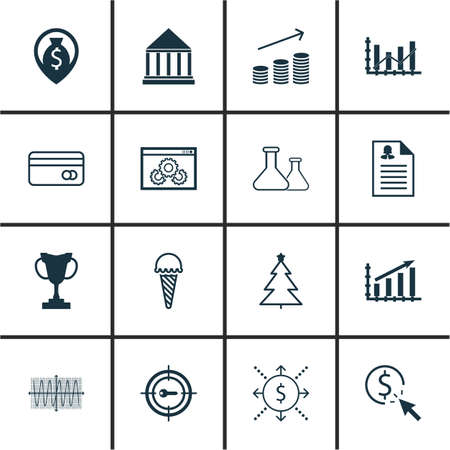 ppc: Set Of 16 Universal Editable Icons. Can Be Used For Web, Mobile And App Design. Includes Icons Such As Chemical, PPC, Sinus Graph And More.
