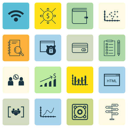 transact: Set Of 16 Universal Editable Icons. Can Be Used For Web, Mobile And App Design. Includes Icons Such As Opportunity, Phone Conference, Raise Diagram And More. Illustration