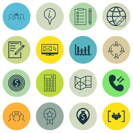 Ensemble de 16 icônes modifiables universelles. Peut être utilisé pour le Web, Mobile et App Design. Comprend des icônes telles que la connectivité, le pointeur d'informations, la collaboration et bien plus encore.