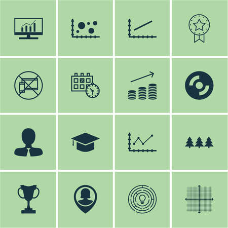 portable rom: Set Of 16 Universal Editable Icons. Can Be Used For Web, Mobile And App Design. Includes Icons Such As Blank Cd, Innovation, Manager And More. Illustration