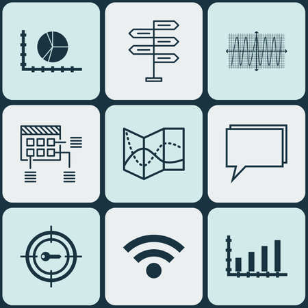 cosinus: Set Of 9 Universal Editable Icons. Can Be Used For Web, Mobile And App Design. Includes Icons Such As Cosinus Diagram, Conference, Wireless And More.