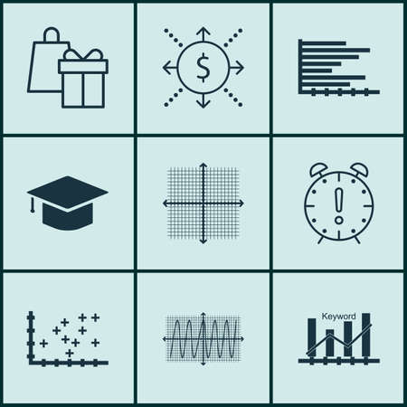 money time: Set Of 9 Universal Editable Icons. Can Be Used For Web, Mobile And App Design. Includes Icons Such As Money, Time Management, Graduation And More.