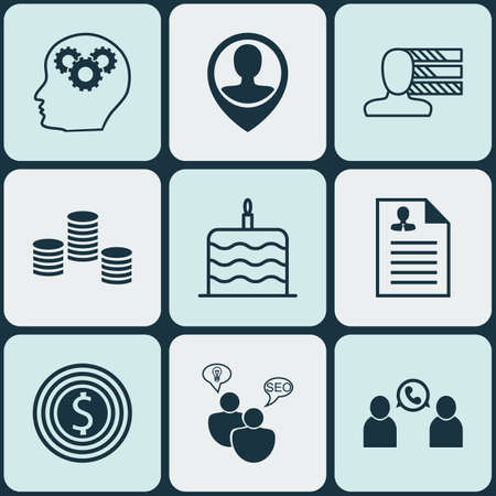 ability to speak: Set Of 9 Universal Editable Icons. Can Be Used For Web, Mobile And App Design. Includes Icons Such As Money, Business Goal, SEO Brainstorm And More.