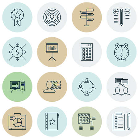 ability to speak: Set Of Project Management Icons On Investment, Personal Skills And Opportunity Topics. Editable Vector Illustration. Includes Collaboration, Workspace And Date Vector Icons.