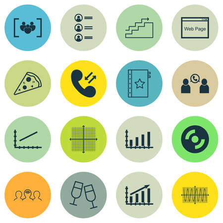 Set Of 16 Universal Editable Icons. Can Be Used For Web, Mobile And App Design. Includes Icons Such As Coaching, Phone Conference, Warranty And More.