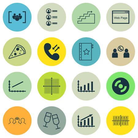 Ensemble de 16 icônes modifiables universelles. Peut être utilisé pour le Web, Mobile et App Design. Comprend des icônes telles que le coaching, la conférence téléphonique, la garantie, etc.