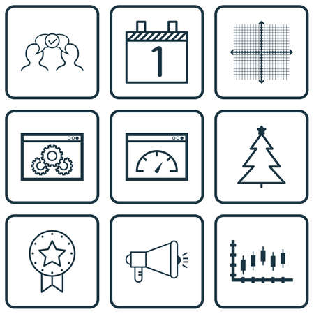 graphical chart: Set Of 9 Universal Editable Icons. Can Be Used For Web, Mobile And App Design. Includes Icons Such As Graphical Grid, Loading Speed, Website Performance And More.
