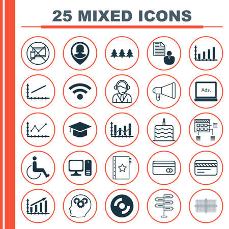 infirm: Set Of 25 Universal Editable Icons. Can Be Used For Web, Mobile And App Design. Includes Icons Such As Graduation, Desktop Computer, Square Diagram And More. Illustration