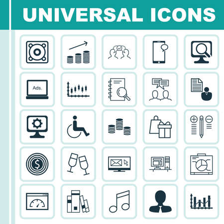infirm: Set Of 25 Universal Editable Icons. Can Be Used For Web, Mobile And App Design. Includes Icons Such As Decision Making, Champagne Glasses, Analysis And More.