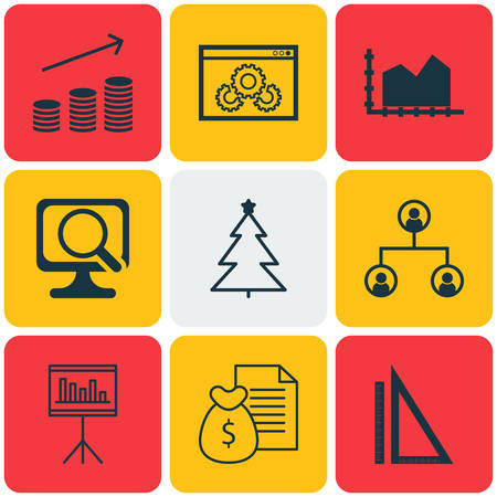 christmas debt: Set Of 9 Universal Editable Icons. Can Be Used For Web, Mobile And App Design. Includes Icons Such As Tree Structure, Sequence Graphics, Coins Growth And More.