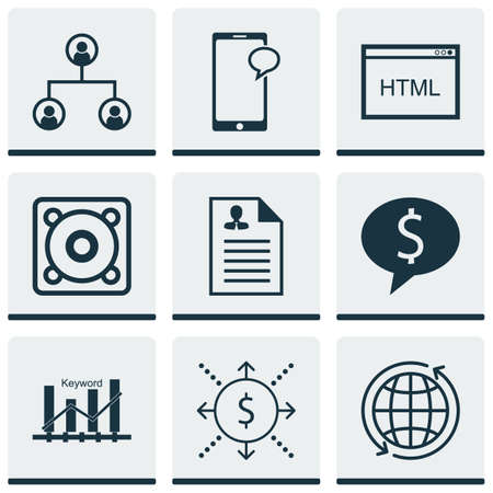 application recycle: Set Of 9 Universal Editable Icons. Can Be Used For Web, Mobile And App Design. Includes Icons Such As Music, Curriculum Vitae, Money And More. Illustration