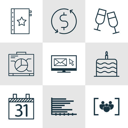 burning money: Set Of 9 Universal Editable Icons. Can Be Used For Web, Mobile And App Design. Includes Icons Such As Bars Chart, Date, Warranty And More. Illustration