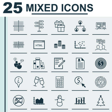 magazine stack: Set Of 25 Universal Editable Icons. Can Be Used For Web, Mobile And App Design. Includes Icons Such As Female Application, Innovation, Sequence Graphics And More.