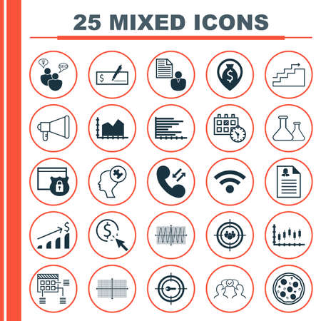 debt collection: Set Of 25 Universal Editable Icons. Can Be Used For Web, Mobile And App Design. Includes Icons Such As Keyword Marketing, Pizza Meal, Focus Group And More.