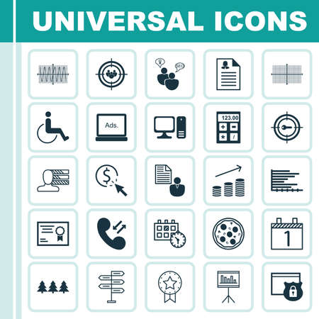 www tasty: Set Of 25 Universal Editable Icons. Can Be Used For Web, Mobile And App Design. Includes Icons Such As Present Badge, Appointment, Keyword Marketing And More.