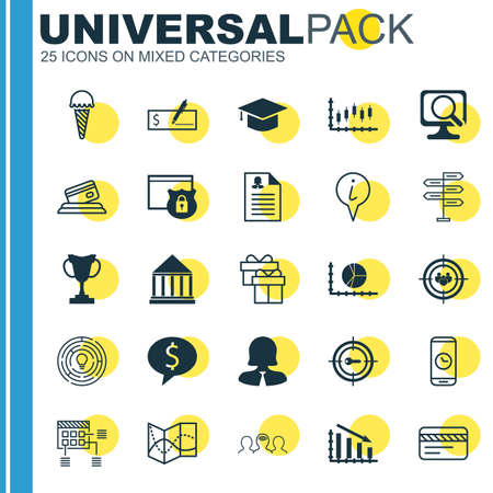 Set Of 25 Universal Editable Icons. Can Be Used For Web, Mobile And App Design. Includes Icons Such As Business Deal, Stock Market, Focus Group And More.