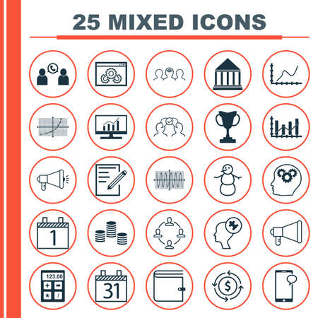 raise: Set Of 25 Universal Editable Icons. Can Be Used For Web, Mobile And App Design. Includes Icons Such As Tournament, Raise Diagram, Phone Conference And More. Illustration