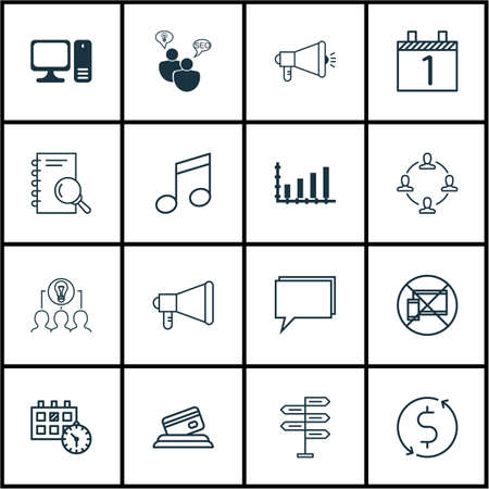 crotchets: Set Of 16 Universal Editable Icons. Can Be Used For Web, Mobile And App Design. Includes Icons Such As Crotchets, Dynamics, Forbidden Mobile And More.