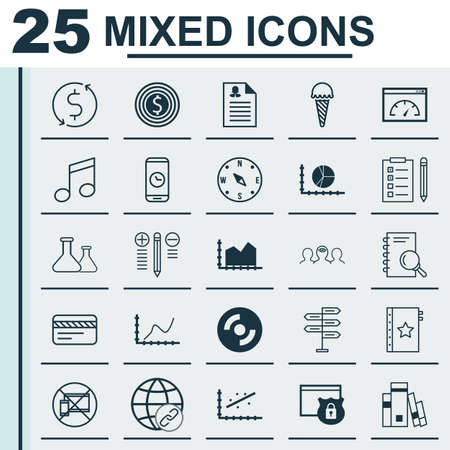 frozen food: Set Of 25 Universal Editable Icons. Can Be Used For Web, Mobile And App Design. Includes Icons Such As Female Application, Chemical, Frozen Food And More. Illustration