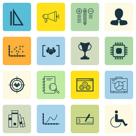 medical evaluation: Set Of 16 Universal Editable Icons. Can Be Used For Web, Mobile And App Design. Includes Icons Such As Decision Making, Plot Diagram, Library And More. Illustration