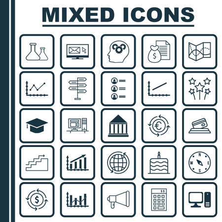 www tasty: Set Of 25 Universal Editable Icons. Can Be Used For Web, Mobile And App Design. Includes Icons Such As Money Recycle, Road Map, World And More. Illustration